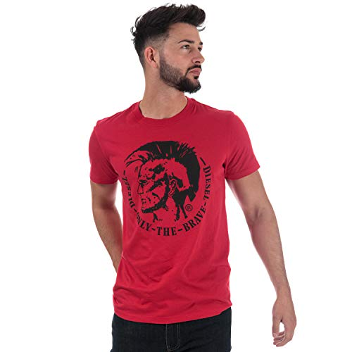 Diesel Herren T-Shirt Gr. L, rot -