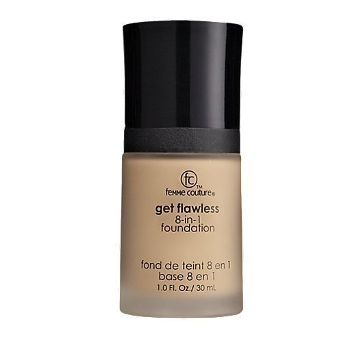 Femme Couture Get Flawless 8-in-1 Foundation TAN, 1.0 fl. oz / 30 ml by Femme Couture