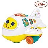 Limtoys Baby elektronisches Flugzeug Licht und Musik pädagogisches Spielzeug für Kinder für Kleinkinder Jungen und Mädchen 1 2 3 4 5 Jahre alt