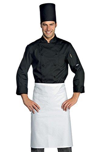 Isacco Giacca Cuoco Classica - Isacco Nero, Nero, M, 65% Poliestere 35% Cotone, Manica Lunga, Bottoni antipanico - Tessuto 125 gr/m²