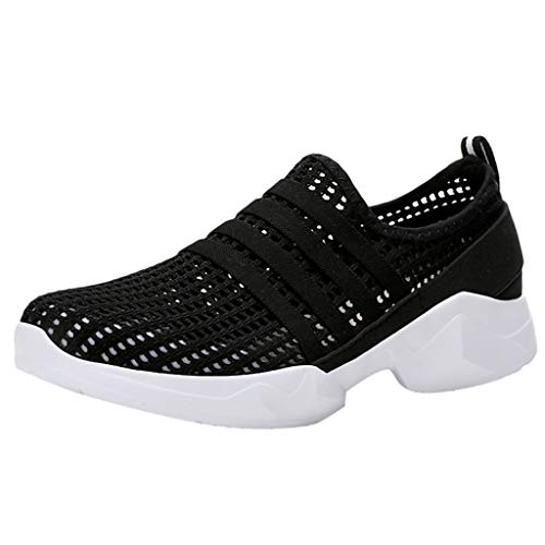 Premium-casual-schuhe (Laufschuhe Damen Leichte Sneaker Casual Breathable Bequeme Schuhe Zum Gehen Frauen Freizeit Sportschuhe Turnschuhe Running Gym Straßenlaufschuhe Mesh Atmungsaktives Freizeitschuh (EU:39, Schwarz))