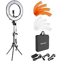 Neewer Cámara Foto Video Kit de Iluminación: 48 Centímetros Exterior 55W 5500K Dimable LED Anillo de Luz, Soporte de Luz, Receptor Bluetooth para Móvil, Youtube, Disparo Selfie Video