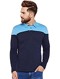 The Dry State Men's Cotton Navy Blue Collor/Polo T-shirt