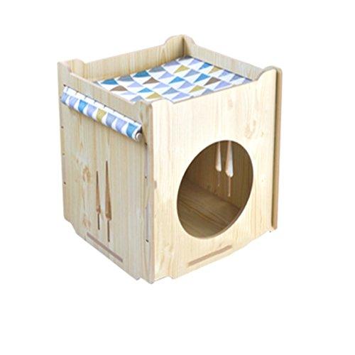 Aibaby gabbia per animali in legno gabbia per gatti cat hammock cornice per arrampicata teddy bomeibi orso per cani di taglia piccola e media per quattro stagioni adatto per gabbia,logs