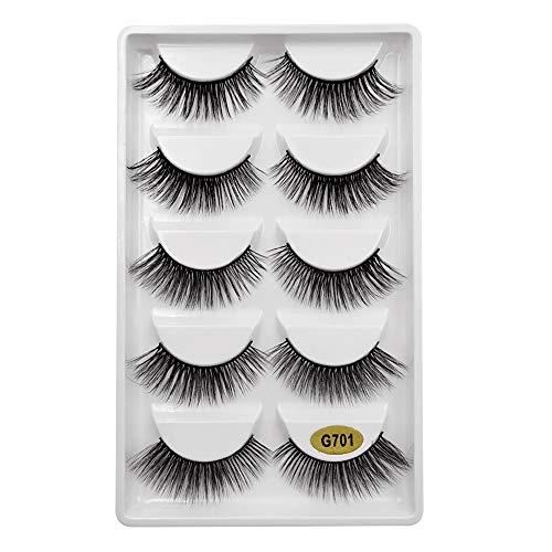 Mitlfuny Gesundheit Und SchöNheitDIY Dekoration 2019,5 Paar 3D Natürliche Dicke Falsche Wimpern Wimpern Makeup Extension