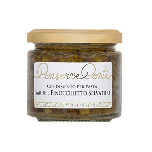 Condimento per pasta con sarde e finocchietto selvatico in olio extravergine d'oliva ml. 212