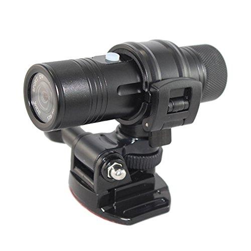 Andoer HD-Sport-Kamera, 1080P, 30FPS, 8MP, 170 A+ Weitwinkelobjektiv, DVR-Action-Kamera, Helmkamera, Videorekorder, Webkamera, für draußen, zur Anbringung am Helm oder am Arm, beim Radfahren oder Jagen, wasserdicht