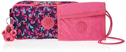 Kipling - FUTURIST CHAP DUO - Portefeuille et trousse à stylos - Fest Stars Pink - ( Multi couleur)