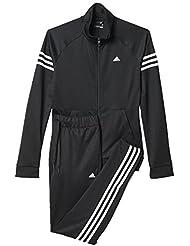 adidas Team Sport Suit - Chándal para mujer, color negro/ blanco, talla M