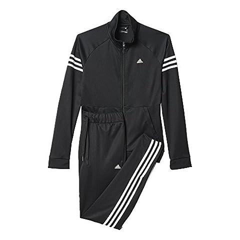adidas Damen Trainingsanzug Teamsport Suit, Schwarz/ Weiß, M, 4055344076507
