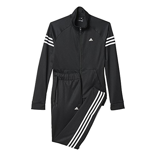 adidas Damen Trainingsanzug Teamsport Suit, Schwarz/ Weiß, XL/S, 4055344540305