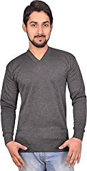 Alfa Oswal Mens Thermal Wear V Neck Top (Upper) (Black, 85)