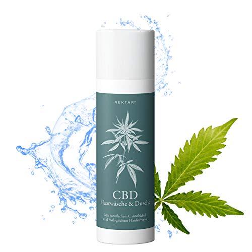 Nektar CBD Shampoo für Damen und Herren bei trockener, sensibler und empfindlicher Kopfhaut, Haarshampoo hat beruhigende und aufbauende Wirkung bei brüchigem Haar, Naturkosmetik - Made in Austria - Herren-nektar