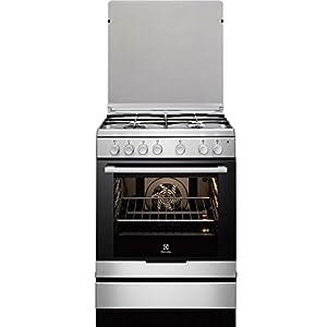 Electrolux EKK6130AOX Independiente Encimera de gas A Acero inoxidable – Cocina (Cocina independiente, Acero inoxidable, Giratorio, Frente, Encimera de gas, esmalte de acero)