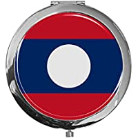 "metALUm - Extragroße Pillendose in runder Form""Flagge Laos"" preisvergleich bei billige-tabletten.eu"