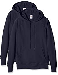Fruit of the Loom Ladies Lightweight Hooded Sweat, Sudadera para Mujer
