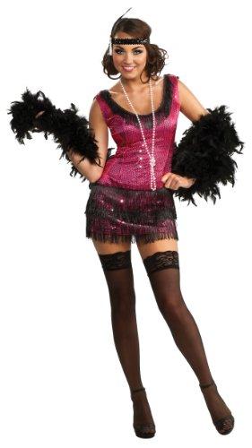 on Kleid Kostüm für Damen Gr. S-XL, Größe:S (Jazz Flapper Halloween-kostüm)
