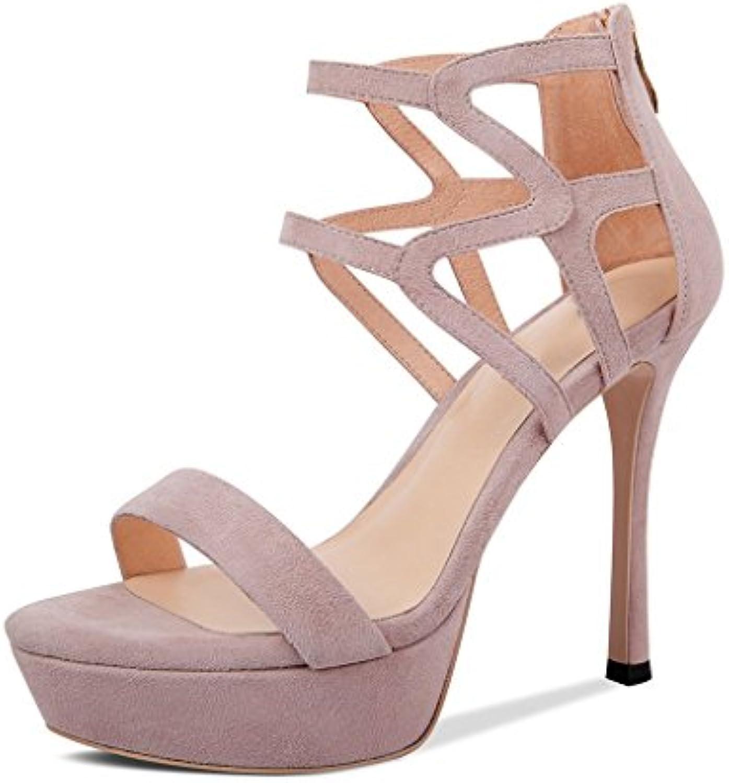 JIANXIN Sandali Femminili Estivi Sexy Tacco Alto Scarpe da Donna Plateau in Pelle Sandali Aperti (Coloreee   rosa...   Shopping Online    Uomini/Donne Scarpa