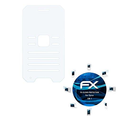 atFolix Schutzfolie kompatibel mit Cyrus cm 1 Folie, ultraklare FX Bildschirmschutzfolie (3X)