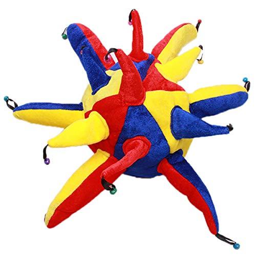 ty Kostüm Clown Hut Lustig Multicolor Jester Cap Fasching Gras Holloween Party Cosplay Zubehör ()