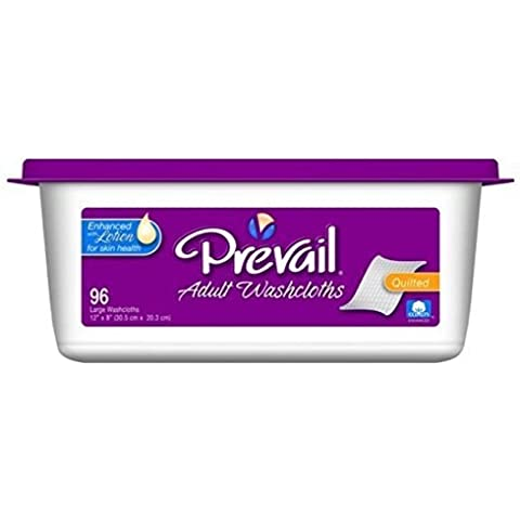 Prevail Premium Washcloth, 96/Tub by First Quality