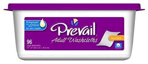 Prevail Disposable Washcloths, Prevail Wshclth Jumbo Pk Disp, (1 CASE, 576 EACH) by FIRST QUALITY