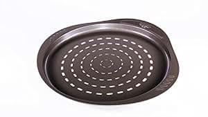 Pyrex 32 cm Large Metal Asimetria Easy-Grip Pizza Pan, Brown