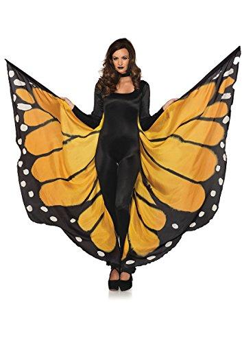 Preisvergleich Produktbild LEG AVENUE A2782 - Unisex Festival Schmetterlings-Flügel,  Einheitsgröße,  Orange