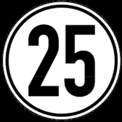 Schild Alu Höchstgeschwindigkeit 25 km/h 200mm
