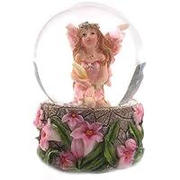 Mini palla di vetro sfera ad acqua con fata fatina dei fiori 6cm