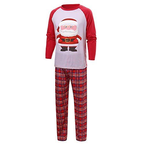 TianWlio Baby Weihnachten Pyjamas Baby Weihnachten Outfit Baby Mädchen Mama und Papa Mama Weihnachtsmann Tops Bluse Hose Familien Pyjamas Nachtwäsche Weihnachts Outfits Set
