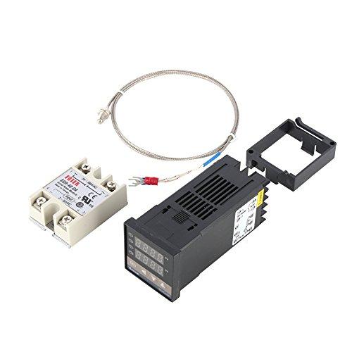 Hilitand 0 ℃ ~ 400 ℃ Alarm REX-C100 Digital Intelligente Thermostat LED PID Temperaturregler Kits AC110V-240V