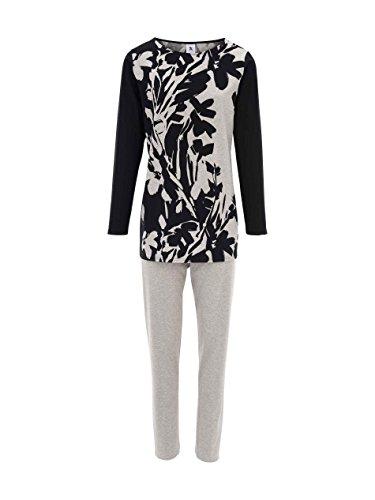 Nanso Runo Jersey-Pyjama mit Floralprint Damen Schwarz