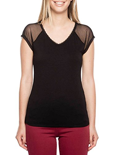 Bréal Tegabi, T-Shirt Femme Noir