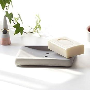 Atelier Ideco – Graue Seifenschale Aus Beton, Handgefertigte Seifenablage, Badzubehör Für Waschbecken Und Dusche-Ablage Für Seife