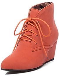 MEI&S Women's Round Toe Talons Talon Bloc Long. Chaussures,Yellow,42