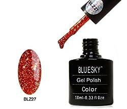 Bluesky New BLZ Diamond Glitter Range BLZ27 UV Soak Off Nail Polish Gel 10 ml