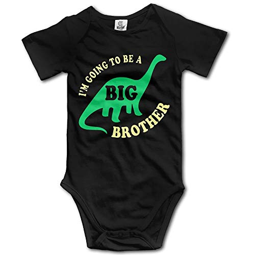 Going to Be A Big Brother Newborn Short Sleeve Jumpsuit Outfits Black (Ref Kostüm Zubehör)