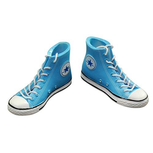 MagiDeal Chaussures Baskets Bleu 1/6 Scale pour 12\