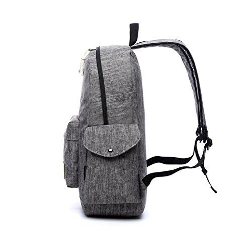 F@Nuove retrò ragazze zaini zaino esterno, sacchetto di spalla, zaino del computer , khaki gray