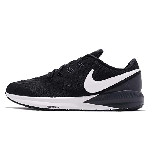 Nike Herren Air Zoom Structure 22 Laufschuhe, Mehrfarbig (Black/White/Gridiron 002), 44.5 EU (Nike Air Zoom)