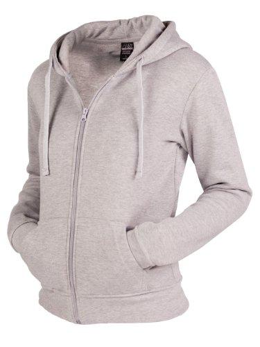 Urban Classics Damen Pullover Pullover Ladies Zip Hoody Grey