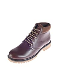 Turk (from Khadims) Men Brown Faux Leather Boots