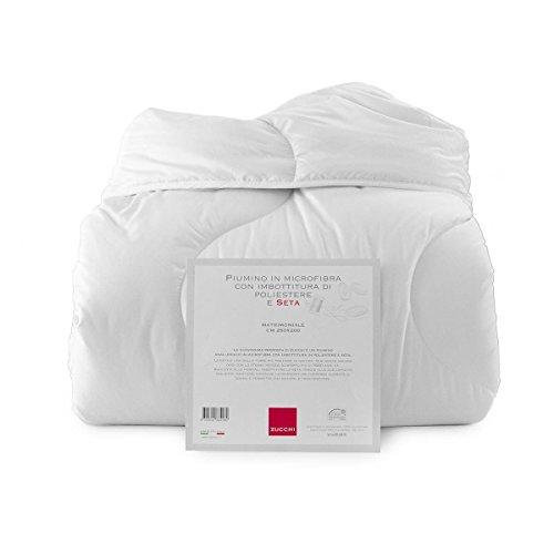 Piumino silk matrimonilae in microfibra con imbottitura di poliestere e seta - matrimoniale di zucchi peso invernale