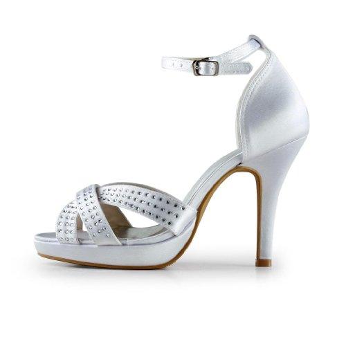 Jia Jia Wedding 37069 chaussures de mariée mariage Escarpins pour femme Blanc
