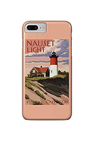 Cape Cod, Massachusetts - Nauset Light and Sunset (iPhone 7 Plus Cell Phone Case, Slim Barely (Nauset Light Cape Cod)