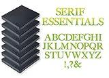 Sizzix 655128 Bigz Alfabeto, Set di 7 Fustelle Serif Essentials