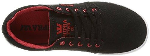 Supra - Westway, Sneakers, unisex Nero (black/red/white)