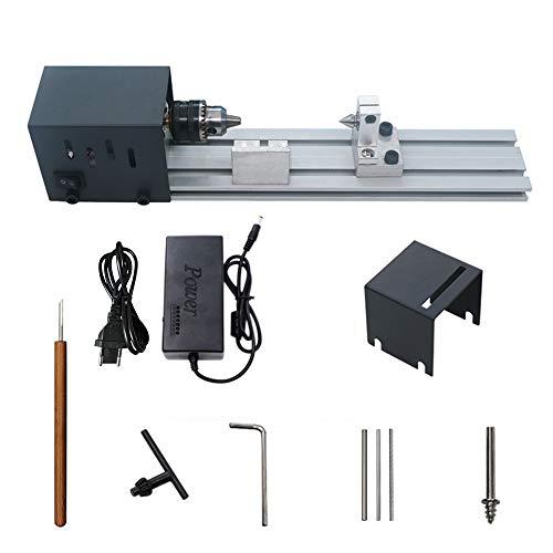 Mini tornio Perline Lucidatrice Macchina universale DIY Set di utensili rotanti per la lavorazione del legno