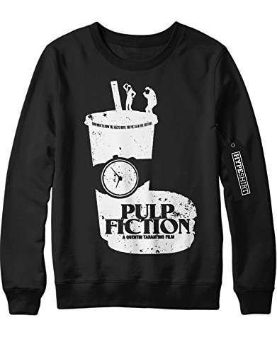 Sweatshirt Pulp Fiction Mia and Vincent dancing on Cup C123445 Schwarz XXL (Pulp Fiction Mia Und Vincent Kostüm)